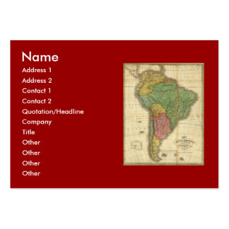 Vintage 1826 South America Map by Anthony Finley Business Card