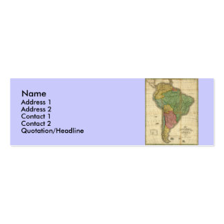 Vintage 1826 South America Map by Anthony Finley Mini Business Card