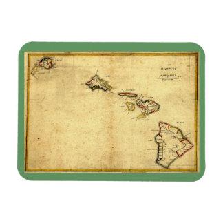 Vintage 1837 Hawaii Map -  Hawaiian Islands Magnet
