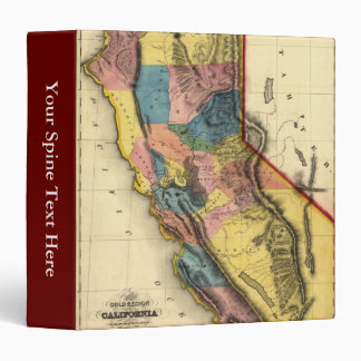 Vintage 1851 California Gold Region State Map 3 Ring Binders