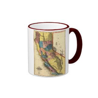 Vintage 1851 California Gold Region State Map Mug