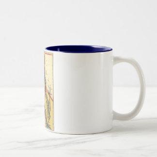 Vintage 1851 California Gold Region State Map Coffee Mug