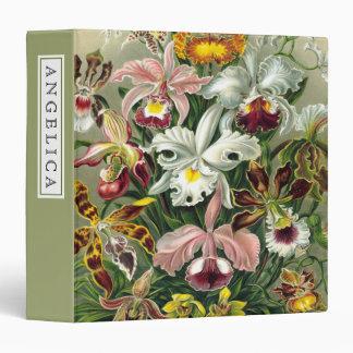 Vintage 1865 Botanical Orchids Illustration 3 Ring Binder