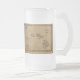 Vintage 1876 Hawaii Map -  Hawaiian Islands Coffee Mug