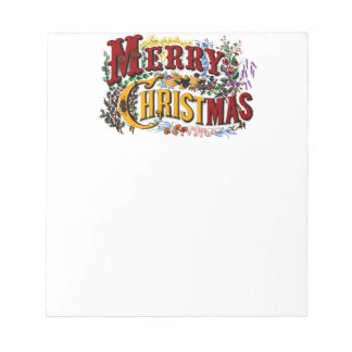 Vintage 1876 Merry Christmas Notepad