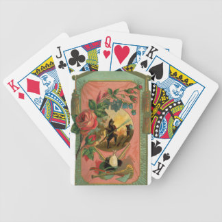 Vintage 1880's Fireman Firefighter Artwork Bicycle Playing Cards