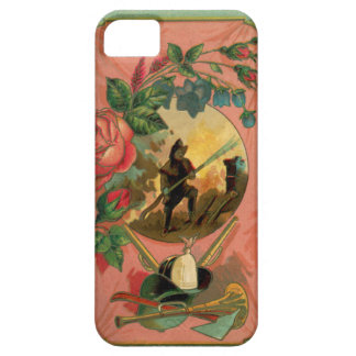 Vintage 1880's Fireman Firefighter Artwork Case For The iPhone 5