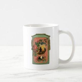 Vintage 1880's Fireman Firefighter Artwork Coffee Mug