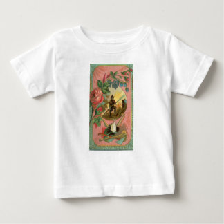 Vintage 1880's Fireman Firefighter Cover Baby T-Shirt