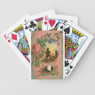 Vintage 1880's Fireman Firefighter Cover Bicycle Playing Cards