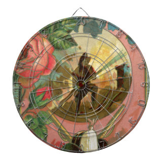 Vintage 1880's Fireman Firefighter Cover Dartboard