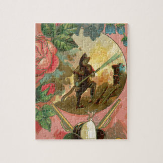 Vintage 1880's Fireman Firefighter Cover Jigsaw Puzzle