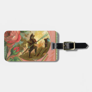 Vintage 1880's Fireman Firefighter Cover Luggage Tag