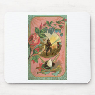 Vintage 1880's Fireman Firefighter Cover Mouse Pad