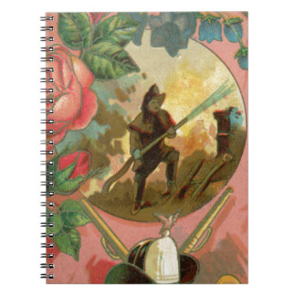 Vintage 1880's Fireman Firefighter Cover Notebooks