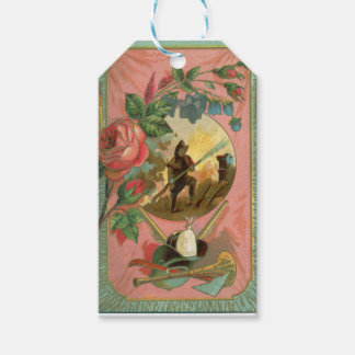 Vintage 1880's Fireman Firefighter Cover Pack Of Gift Tags