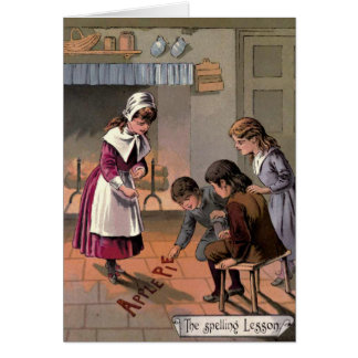 Vintage 1885 Goody Two Shoes Greeting Card