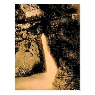 Vintage, 1890, Trummelbach Falls, Lauterbrunnen Postcard