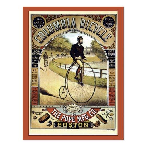 Vintage 1890s antique American bicycle advertising Postcards