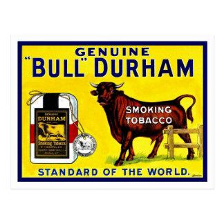 Vintage 1890s Bull Durham tobacco ad Postcard