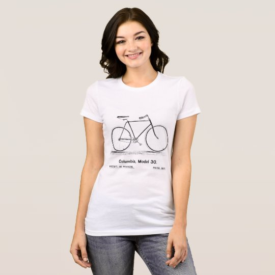 Vintage 1893 Columbia Bicycle Illustration T-Shirt