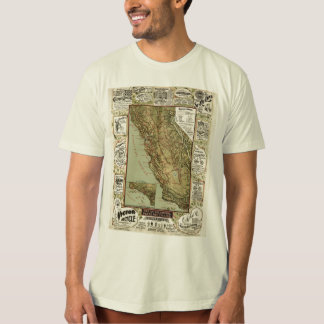 Vintage 1895 California Bicycle Cycling Map Tee Shirt