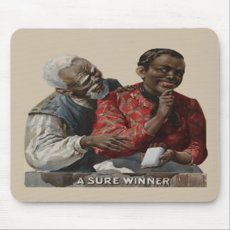 Vintage 1895 Cigar Ad African American Mouse Pad