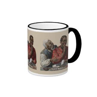 Vintage 1895 Cigar Ad African American Ringer Coffee Mug