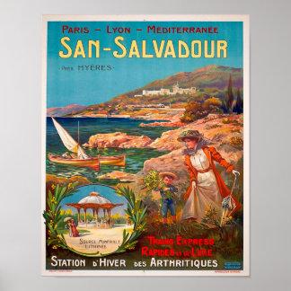 Vintage 1900 San Salvadour Travel Poster