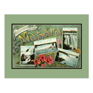 Vintage 1900s art nouveau greetings from Niagara Postcard