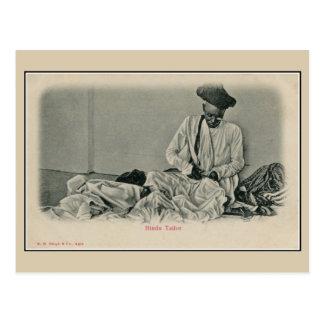 Vintage 1900s India Hindu tailor Postcard