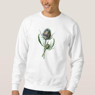 Vintage 1902 Scottish Thistle Antique Wild Flower Sweatshirt
