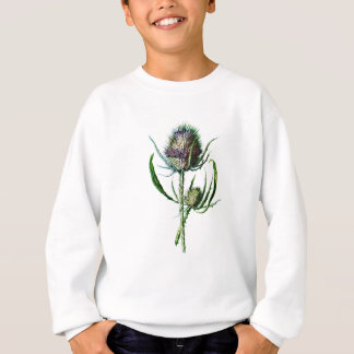Vintage 1902 Scottish Thistle Antique Wild Flower Sweatshirt