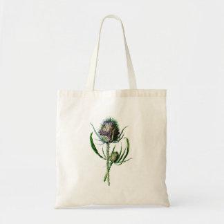 Vintage 1902 Scottish Thistle Antique Wild Flower Tote Bag
