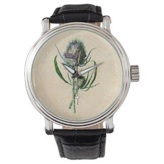 Vintage 1902 Scottish Thistle Antique Wildflower Wrist Watches
