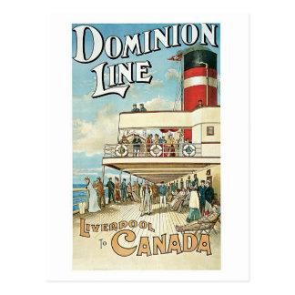 Vintage 1904 Dominion line travel ad Postcard