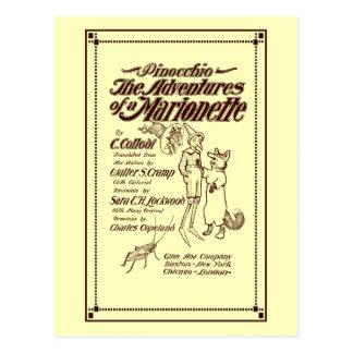 Vintage 1904 Pinocchio cover page Postcard