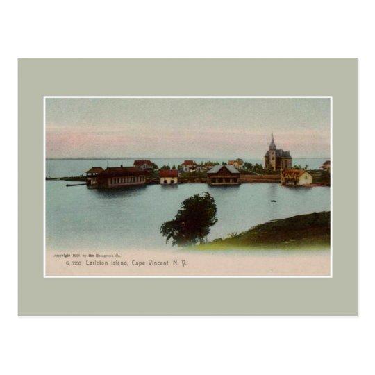 Vintage 1905 Carleton Island Cape Vincent NY Postcard
