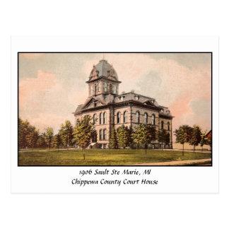 Vintage 1906 Chippewa Co. Court House Postcard