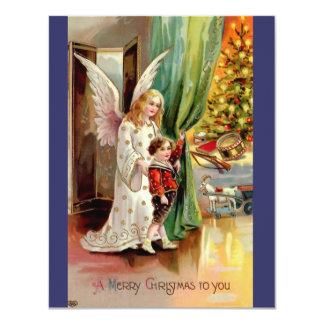 Vintage 1908 Greeting Card-Angel, Child, Toys Card