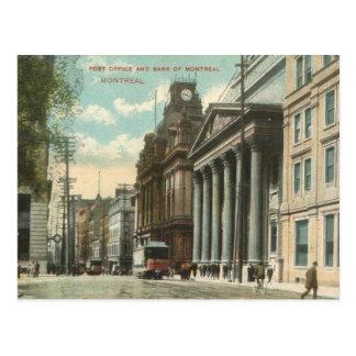 VINTAGE 1909 DOWNTOWN MONTREAL POSTCARD