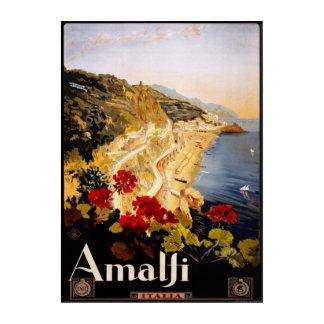 Vintage(1910-20)Amalfi Coast Italy Travel Poster Acrylic Wall Art