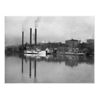VINTAGE 1910 PHOTO of Toledo OH Waterfront