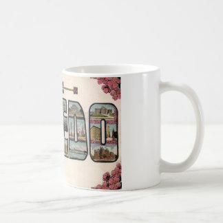 Vintage 1910 TOLEDO, OH Large Letter Design Coffee Mug