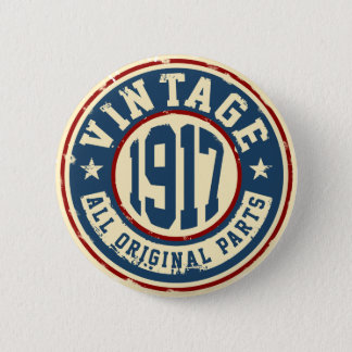 Vintage 1917 All Original Parts 2 Inch Round Button