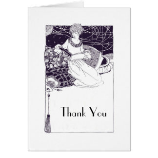 Vintage 1920 Art Deco Thank You Card Template