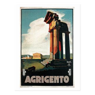 Vintage 1920s Agrigento Italian travel Postcard