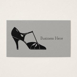 Vintage 1920s Art Deco Flapper Shoe Antique Heels Business Card