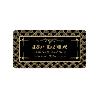 Vintage 1920's Art Deco Gatsby Wedding Collection Label