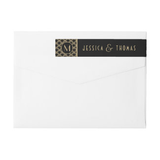 Vintage 1920's Art Deco Gatsby Wedding Collection Wraparound Return Address Label